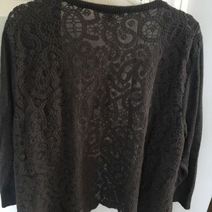 Cardigan sweater.